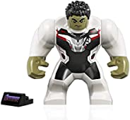 LEGO Super Heroes Avengers Endgame Minifigure - Hulk (in White Jumpsuit with Stand) 76144