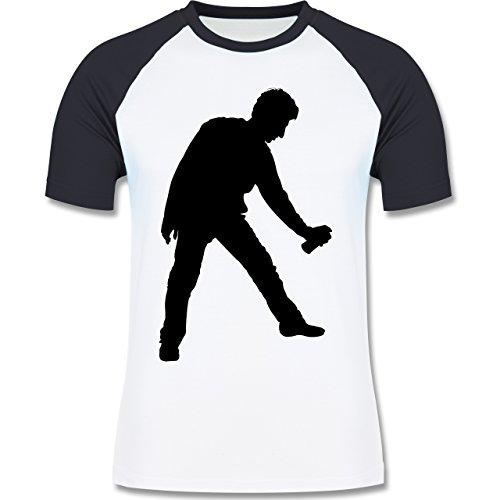 Handwerk - Lackierer - zweifarbiges Baseballshirt für Männer Weiß/Navy Blau