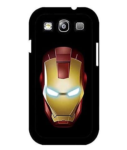 Marvel Comics Iron Man logo Coque Case plastique dur Anti Scratch Back Cover compatible avec Samsung Galaxy S3i9300