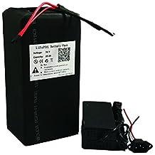 36 V 20 AH LiFePO4 Batería de litio Power Pack y cargador de BMS para ebike