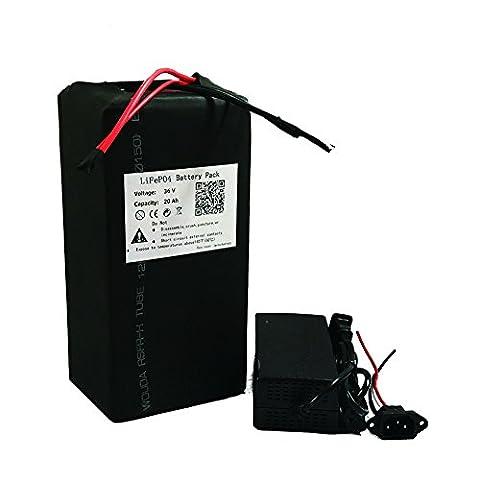 36V 20Ah Lifepo4batterie au lithium Power Pack et chargeur de BMS pour Ebike Scooter Moteur électrique