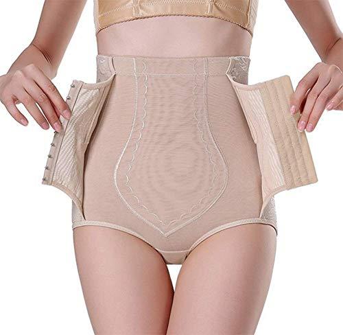 DAXIGF Frauen Body Shaping Unterwäsche, Schnalle Body Shaping Hosen, Abnehmen Triangel Shaping Hosen, hohe Taille Bauch Hüfthose,Flesh,M -