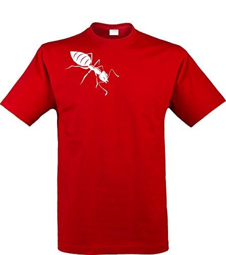 Klamottenkiste24 Herren T-Shirt, Ameise, Rot, Gr. ()
