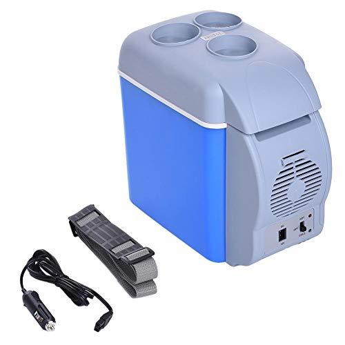 Chengstore Portable Voiture réfrigérateur électrique glacière Cooler Moteur Maison Camping réfrigérateur, réchauffement et de Refroidissement Double Utilisation, 6L 12V, comme sur l'image, 7.5L