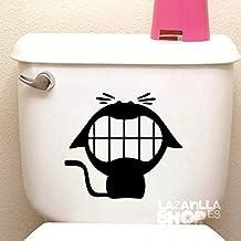 lazarillaSHOP™ • Pegatina Sticker Vinilo Gato WC Pegatina para Aseo Puerta del baño Toilet Sticker