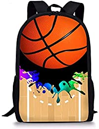 Gym Sports - Mochila Escolar para niños con diseño de Baloncesto ...