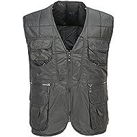 GDS/plumón edredones, algodón ligero V cuello Plus tamaño más corto de la Hombres Pesca vest. directores Down Chaleco de algodón, 2-M