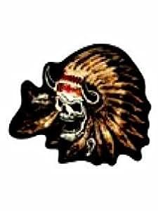 Aufbügler Indianer Totenkopf