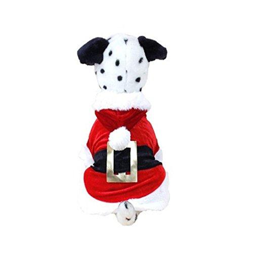 Ninasill Pet Apparel, ღ ღ Weihnachten Hund Kleidung Santa Doggy Kostüme Pet Apparel New Design Casual Large Rot