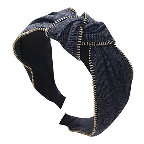 and Haarspange,Damen Kristall Stirnband Stoff Haarband Kopf wickeln Haarband Zubehör speciales neues Design für Damen Haarschmuck ()