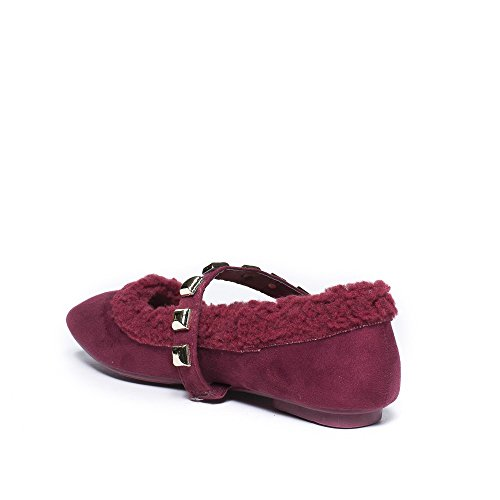 Ideal Shoes ,  Ballerine donna Bordeaux