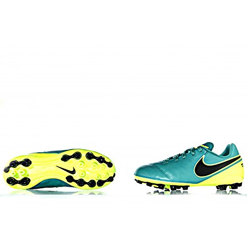 Nike Jr Tiempo Legend Vi Ag, Chaussures de Football Mixte Bébé Vert - Verde (Clear Jade / Black-Volt)