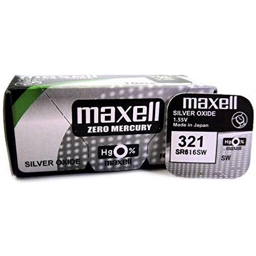 Maxell 321 SR616SW Pila botón , 1,55V