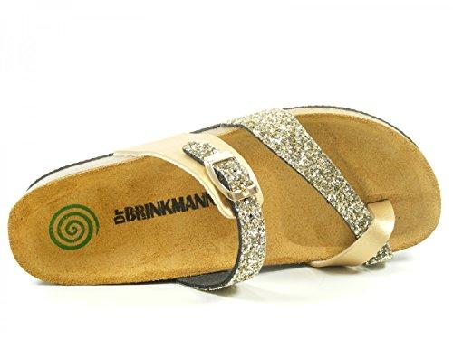 Dr.Brinkmann 701035-92 femme colgs & mules gold
