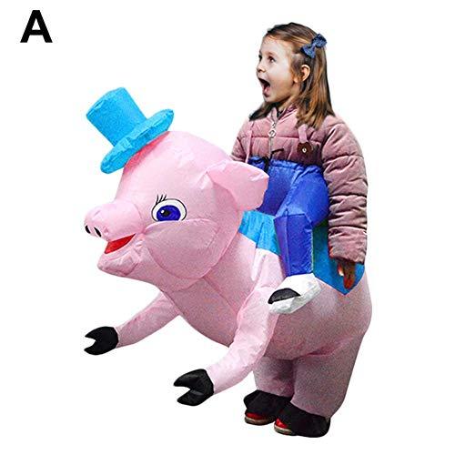 hook.s Aufblasbare Tierkreis-Schwein-Kleidung des Erwachsenen und der Kinder, aufblasbarer Anzug, lustiges Kostüm für Innen- und im Freien