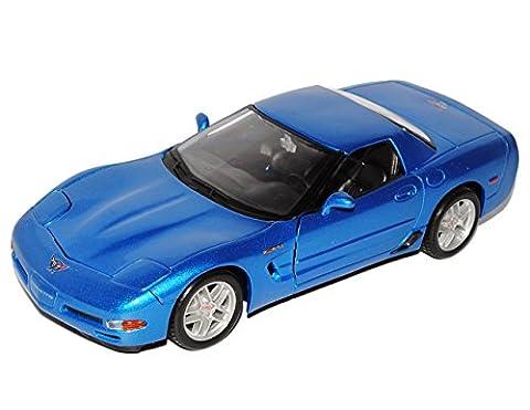Chevrolet Chevy Corvette C6 Z06 Blau 2005-2013 1/24 Maisto Modell Auto