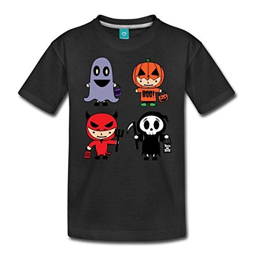 n Kostüme Teufel Kürbis Geist Teenager Premium T-Shirt, 158/164 (12 Jahre), Schwarz ()