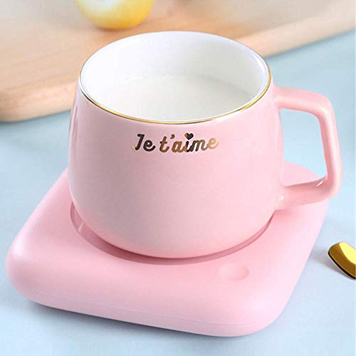SHIXUN Getrankewarmer Tasse Smart Tassenwärmer Elektrische Tassenwärmer Pad Kaffeetasse Platten Tee Getränk Becher WärmerB