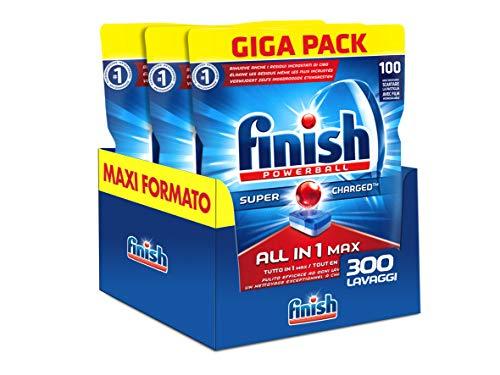 Finish pastiglie lavastoviglie all in 1 max, regular, 300 tabs