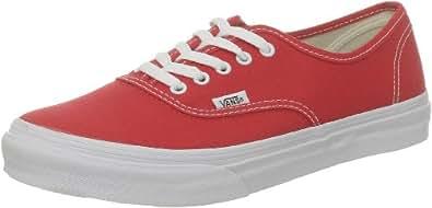 Vans U AUTHENTIC SLIM FIERYRED/TRUEWH VQEV8DU, Unisex-Erwachsene Sneaker, Rot (FieryRed/TrueWh), EU 42.5
