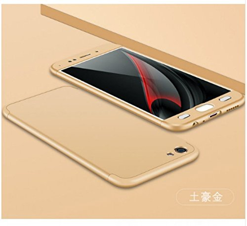 promo code 2fa3d 8c3fe Dream2Cool 360 Degree Ipaky-Full Body Protection (Front+ Back + Temper  Glass) Case Cover for Vivo Y53 / Vivo Y53 (2017)- (Gold)