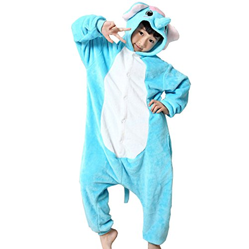 UDreamTime Kinder Anime Sleepsuit Tier Pyjamas Cosplay Kostüme Strampler Elefant XL