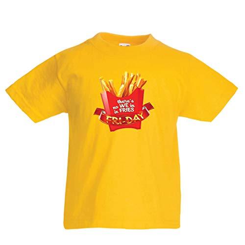 en/Mädchen T-Shirt Es gibt Keine wir in Pommes Freitag Outfit Junk Food Liebhaber (1-2 Years Gelb Mehrfarben) ()