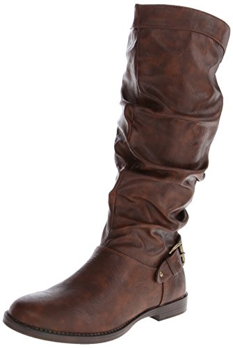 Easy Street Vigor Plus Breit Rund Synthetik Mode Mitte Calf Stiefel Tan