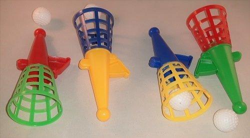 4 Fangballspiele Fangbecher 2Bällen 13 cm Neu OVP Mitgebsel Kindergeburtstag