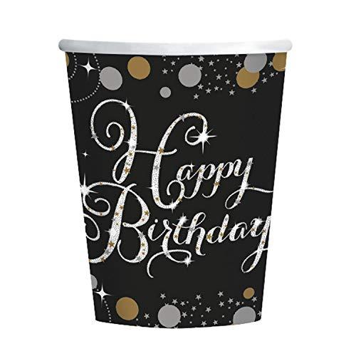 Happy Birthday 137 x 259 cm Dise/ño Cumplea/ños Amscan 9900549 Mantel de Pl/ástico para Mesa