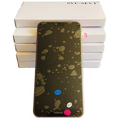 Nokia 7.1 Original Ersatz LCD Display + Touchscreen, Stahl -