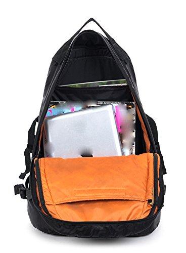 LAIDAYE Im Freien Wasserdichten Taschen Reisetaschen Schultertaschen Rucksäcke Business-Taschen Black