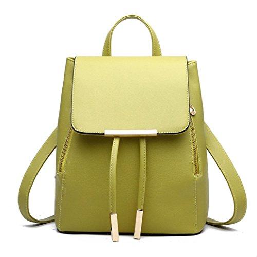 BZLine® Frauen Leder Daypack Leder Rucksack Rucksack Schultaschen Rucksack Grün