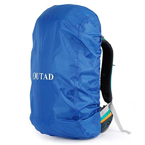 Camping-rucksack (OUTAD Qualitäts Camping Wandern Rucksack Wasserdichte Regenschutz (Blau, M))