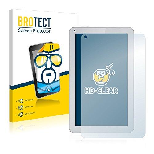 BROTECT Schutzfolie für irulu eXpro X1Plus [2er Pack] - klarer Bildschirmschutz