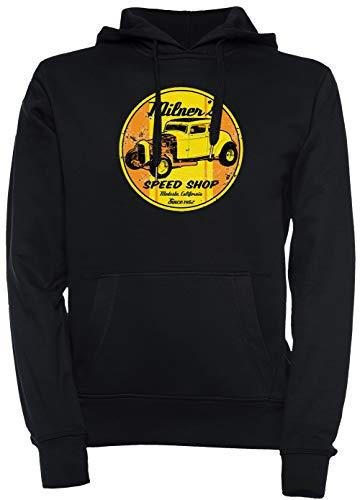 Milners Geschwindigkeit Geschäft Unisex Herren Damen Kapuzenpullover Sweatshirt Pullover Schwarz Größe XL Men's Women's Hoodie Black T-Shirt X-Large Size XL