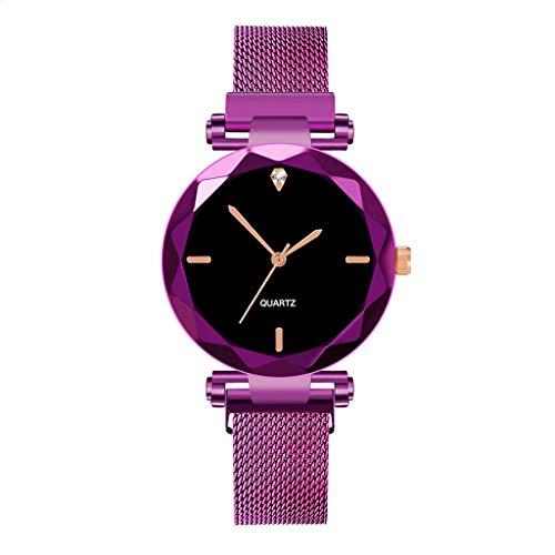 Uhren Damen Armbanduhr Rostfreier Stahl Uhr Mesh Band Wrist Watch Quartz Wrist Watch mit Luxus Uhrenarmband Armband Exquisit uhr ABsoar