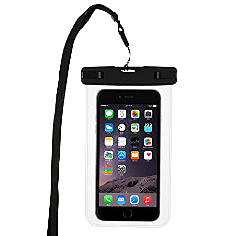 WindTeco Certifiée IPX8 Pochette Sac étanche Universel Waterproof Case Bag Housse Coque Etui pour Smartphones de Taille Égale et Inférieure à 6'', idéal pour natation, la plage, pêche, la randonnée, (Noir2)