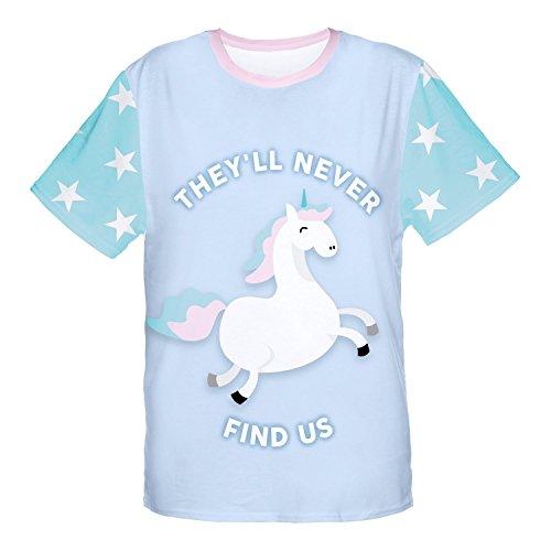 FRINGOO® Women's Girls T-shirt Casual Summer Short Sleeve Top Funny Novelty Party Teenager Fashion Jersey UK 8 / 10 / 12