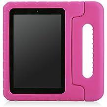 """MoKo Amazon Kindle Fire HD 7 """" Pulgadas 2014 Tableta Funda - Ligero y Super Protective Funda Diseñar Especialmente para los Niños, FUCSIA"""