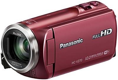 Panasonic HC-V270EG-R - Videocámara Full HD 1080p (pantalla de 2.7