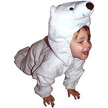 F24 Tamaño 3-4 años traje del oso polar para bebés y niños pequeños, cómodo de llevar en la ropa normales