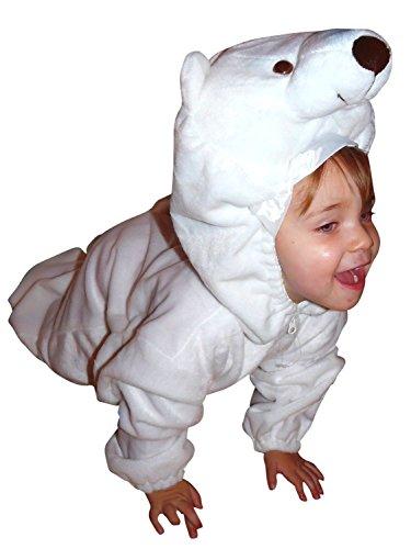 24 Gr.122-128, für Kinder, Eis-Bären Kostüme für Fasching Karneval Fasnacht, Kleinkinder-Karnevalskostüme, Kinder-Faschingskostüme, Geburtstags-Geschenk Weihnachts-Geschenk (Kind Eis Kostüm)