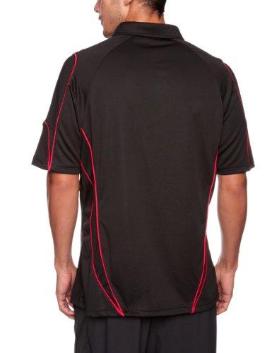 Kooga Rugby, Polo Uomo Abbigliamento tecnico per giochi di squadra Nero (schwarz/red)