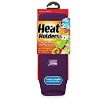 Childrens Heat Holders Thermal Socks - Girls Purple 2-5 uk, 34-39 eur