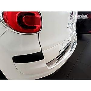"""Avisa 2/35288 - Protezione paraurti Posteriore in Acciaio Inox per Fiat 500L Facelift 2017, Edizione Speciale """"costoli"""", Colore: Argento"""