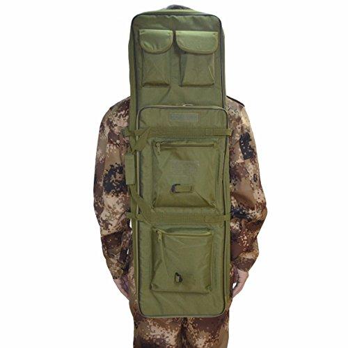 Funda para rifle táctico militar, de Omonic; 122 cm, doble bolsa, correas acolchadas para el hombro que se ajustan a la máxima longitud, verde, 121,92 cm