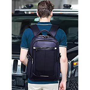 41vopRVz0vL. SS300  - FANDARE 15.6 Pulgadas Laptop Mochila Impermeable Bolso de Escuela con USB Agujero del Auricular Tira Reflectante Hombres…