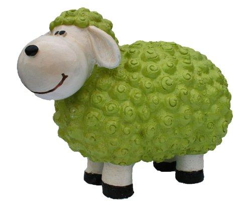 colourliving Dekofigur Schaf Andy grün Bunte Dekoration Nicht nur für den Garten