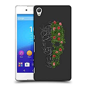 Snoogg Floral Skull Designer Protective Back Case Cover For SONY Z4 COMPACT